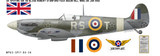 Spitfire Mk VB Robert Stanford-Tuck - Aircraft Profile Wall Decal