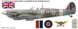 """Spitfire Mk IXC """"City of Glasgow"""" Pierre Clostermann - Aircraft Profile Wall Decal"""