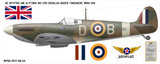 Spitfire Mk IA Douglass Bader - Aircraft Profile Wall Decal