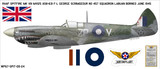Spitfire MK VIII George Scrimgeour - Aircraft Profile Wall Decal