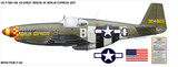 "P-51B Mustang ""Berlin Express"" Decorative Military Aircraft Profile Print Wall Art Decal"