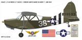 Stinson L-5  Sentinel Aircraft Profile Print Wall Art Decal
