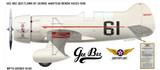 Geebee QED 1938 Bendix Air Race Aircraft Profile Print Wall Art Decal