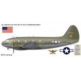"Curtiss C-46 Commando ""Operation Varsity"" Aircraft Profile Print Wall Art Decal"