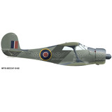Beech Model 17 Staggerwing RAF Aircraft Profile Print Wall Art Decal