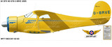 Beech Model 17 Staggerwing Aircraft Profile Print Wall Art Decal