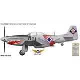 "P-51D Mustang ""Shark of Zambales"" Decorative Military Aircraft Profile Print Wall Art Decal"