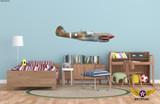 "P-40M Warhawk ""The Jacky C."" Shark Mouth Decorative Military Aircraft Profile Print Wall Art Decal"