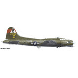 """Boeing B-17 Flying Fortress """"Goldie"""" Aircraft Profile Print Wall Art Decal"""
