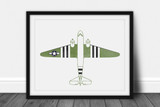 C-47 Skytrain Watercolor Print - Digital Art Download