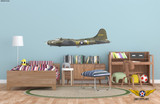"""Boeing B-17 Flying Fortress """"Memphis Belle"""" Aircraft Profile Wall Art Decal"""
