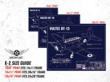 Vultee BT-13 Vintage Plane Blueprint Blueprint Poster DWG#63-01001