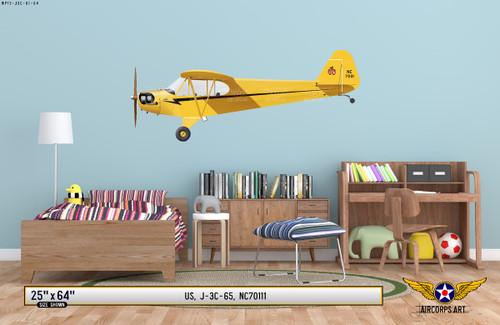 J-3 Piper Cub Decorative Aircraft Profile