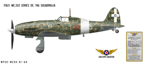 MC.202 Folgore Decorative Military Aircraft Profile