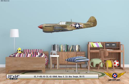 "P-40L Warhawk ""Nona II"" Decorative Vinyl Decal"