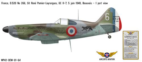 D.250 No 266 Decorative Military Aircraft Profile Print Wall Art Decal