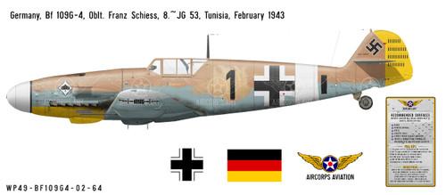 Bf 109G-4 Messerschmitt Decorative Military Aircraft Profile