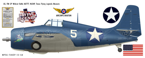 FM-2P Wildcat Decorative Vinyl Decal