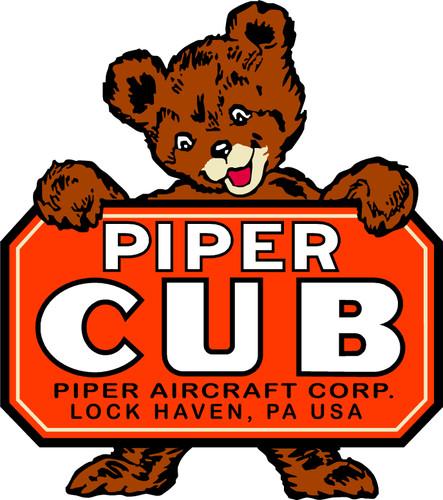 Piper Cub Logo Decal