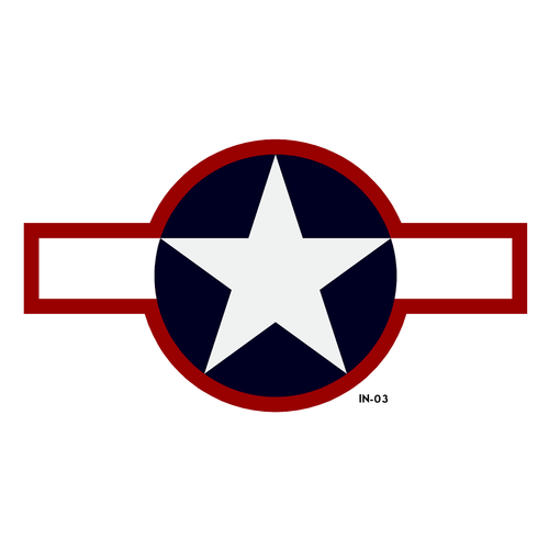 USAF Star and Bars Insignia Military Aircraft Roundel - Spec. AN-I-9b