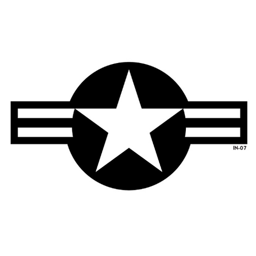 Modern U.S. Air Force National Star and Bars Military Aircraft Roundel - Decal or Paint Mask