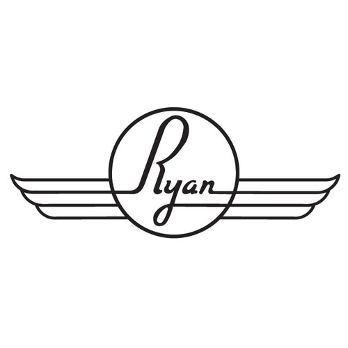 Vintage Ryan Aircraft Die Cut Logo Decal