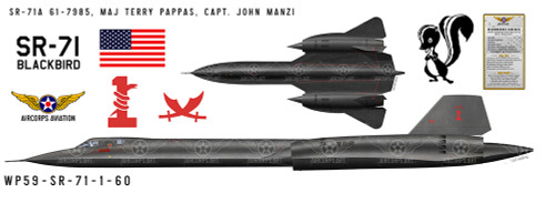 Lockheed SR-71A Blackbird Decorative Aircraft Profile