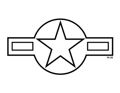 USAF Lo-Vis Star and Bars Roundel Insignia