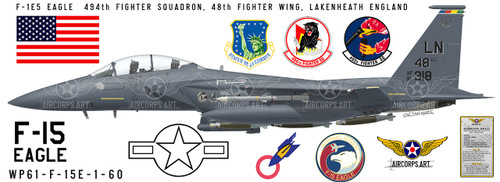 F-15 Eagle 494th Fighter Squadron -  Military Aircraft Profile