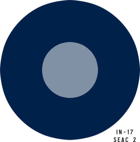RAF SEAC (Pale) Military Aircraft Roundel Insignia - Decal or Paint Mask