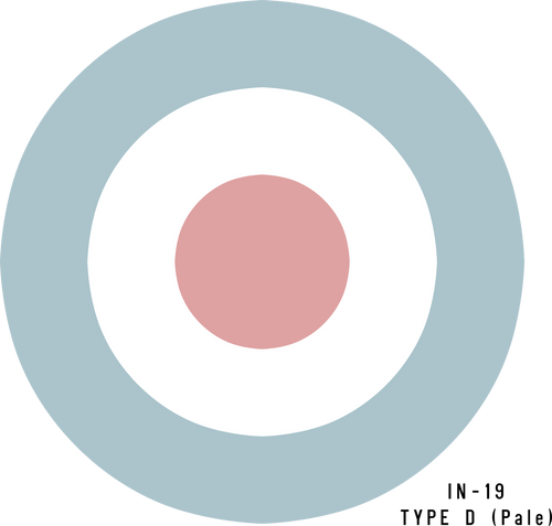RAF Type D (Pale)  Military Aircraft Roundel Insignia - Decal or Paint Mask