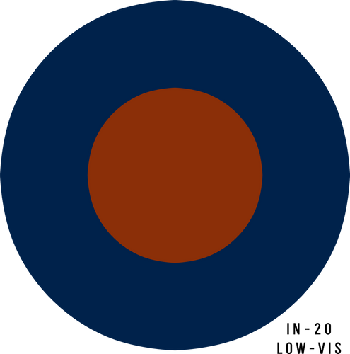 RAF Low-Visibility Military Aircraft Roundel Insignia - Decal or Paint Mask
