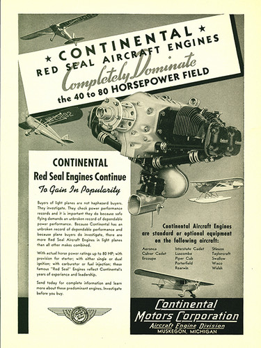 "Continental Motors ""Completely Dominate"" Engine Poster"