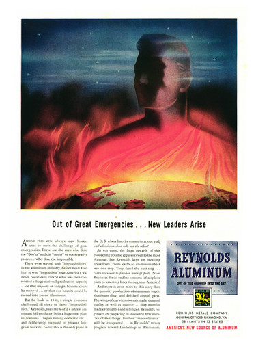 "Reynolds Aluminum ""Out of Great Emergencies"" Vintage Poster Mockup Art Display"