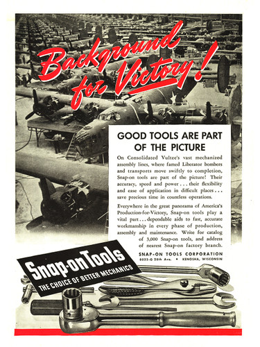 "Snap-On Tools ""Background for Victory!"" Vintage Poster"