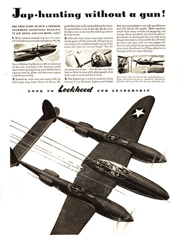 "P-38 Lockheed Lightning ""Hunting without a gun"" Vintage Military Aircraft Airplane Poster Mockup Art Display"