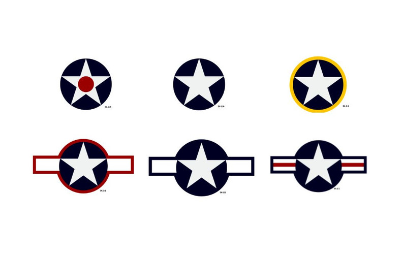 Timeline for the US Air Force National Star Insignia