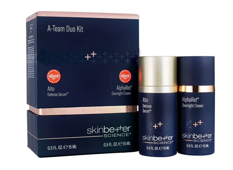 A-Team Duo Kit: AlphaRet Overnight Cream 15 ML & Alto Defense Serum 15 ML