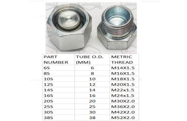 DIN Light Metric Cap and Plug Kit Hydraulic Adapter Metric Set