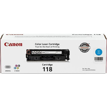 Canon 118 Cyan Toner Cartridge Standard Yield 2,900 Pages (2661B001)
