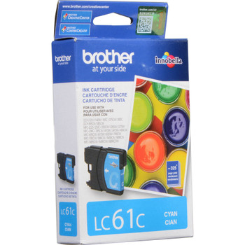 Brother LC61C Ink Cartridge - Cyan - Yield 325 Pages