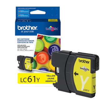 Brother LC61Y Ink Cartridge Yellow - Yield 325 Pages