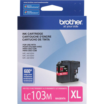Brother LC103M High Yield Ink Cartridge - Magenta - Yield 600 Pages