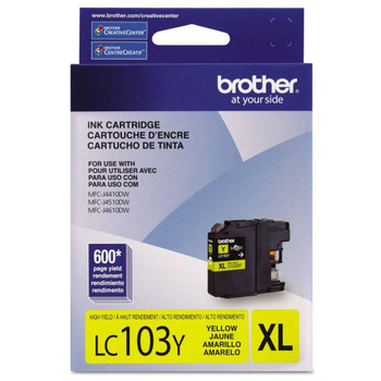 Brother LC103Y High Yield Ink Cartridge - Yellow - Yield 600 Pages