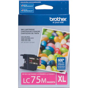 Brother LC75M High Yield Ink Cartridge - Magenta - Yield 600 Pages