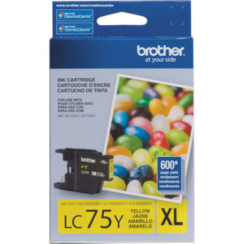 Brother LC75Y High Yield Ink Cartridge - Yellow - Yield 600 Pages