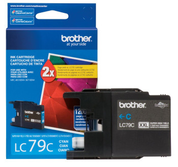 Brother LC79C Super High Yield Ink Cartridge - Cyan - Yield 1200 Pages