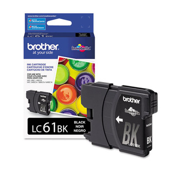 Brother LC61BK Ink Cartridge - Black - Yield 450 Pages