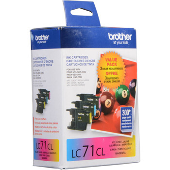 Brother LC713PKS Ink Cartridge Value Pack C, M & Y - Yield 300 Each