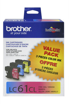 Brother LC613PKS Ink Cartridge Value Pack (C, M, Y) - Yield 325 Pages